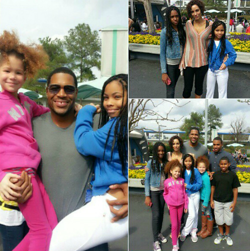 michael strahan takes his princesses to disney world  video