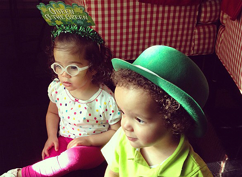 monroe and moroccan celebrate st patricks day