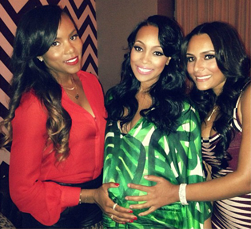 Letoya Luckett, Monica Brown, and Eudoxie
