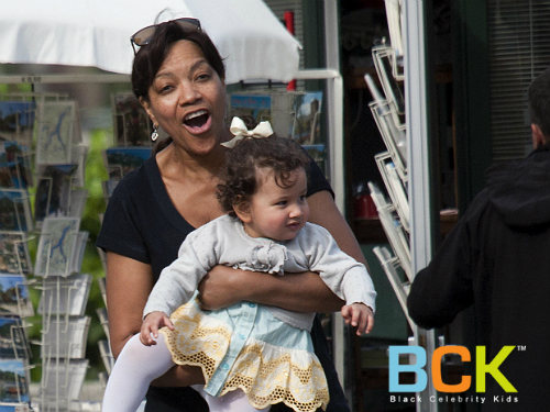 Grace Hightower with her second child, daughter Helen Grace Di Naro