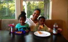 Laila Ali and her two kids