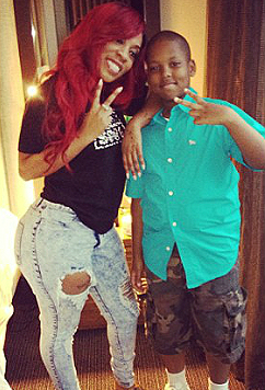 K. Michelle with son Chase