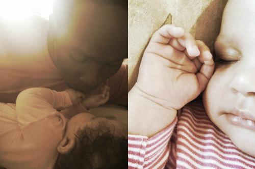 Harold Perrineau and daughter Holiday