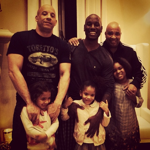 DADDY-DAUGHTER PLAYDATE WITH TYRESE, VIN DIESEL, AND REV RUNVin Diesel Mother And Father