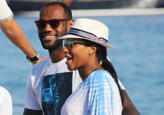 lebron james reveals daughter s name takes wife to greece