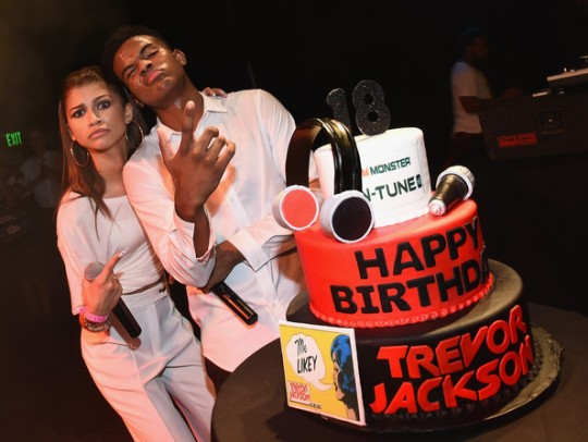 Trevor Jackson  at his Monster 18th Birthday Party Presented by Monster at El Rey Theatre on August 28, 2014 in Los Angeles, California.