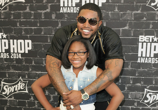LIL SCRAPPY AND DAUGHTER STOP BY BET HIP HOP AWARDS