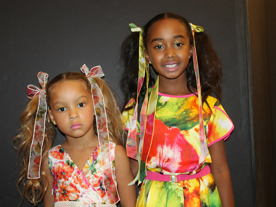 Harper Tillman and Chance Combs at petitePARADE / Kids Fashion Week at Bathhouse Studios on October 18, 2014 in New York City.