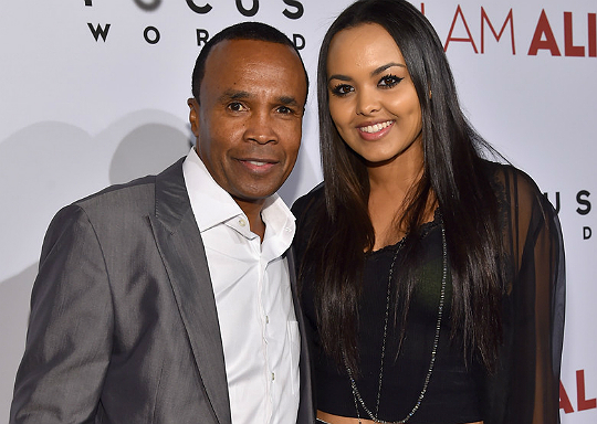 Sugar Ray And Family At Michael Jacksons This It Premiere likewise Watch additionally Sugar Ray Leonard also Hands Stone Intimate Portrait Boxer moreover Hector Camacho Dies Hospital Following Shooting. on sugar ray leonard wife