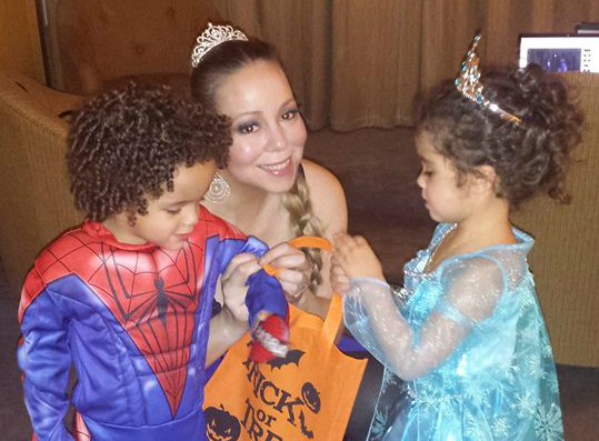 mariah carey and kids celebrate halloween in australia