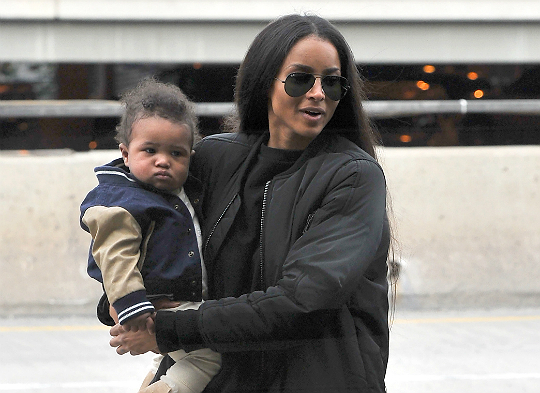 Futures Son Future Zahir Wilburn: CIARA AND SON FLY OUT OF LAX