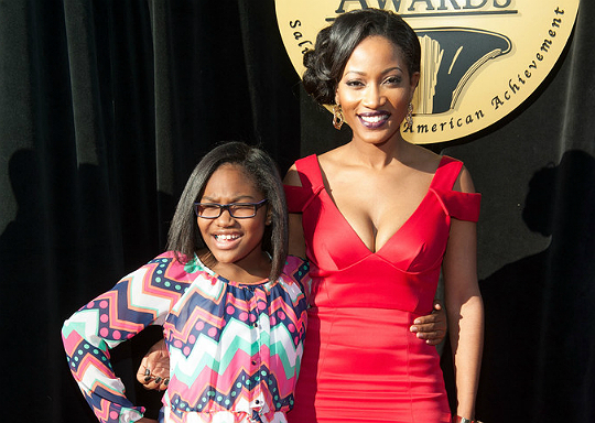 ERICA DIXON AND DAUGHTER ATTEND 23RD TRUMPET AWARDS