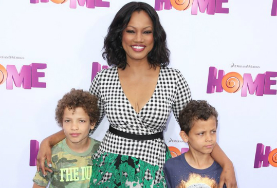 Garcelle Beauvais and her boys
