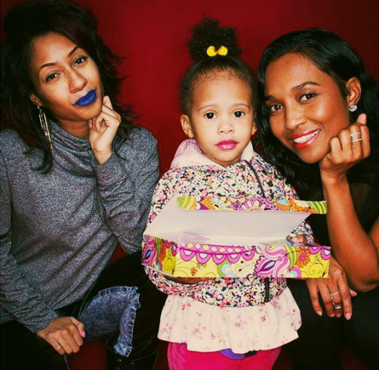 TIFFANY EVANS' DAUGHTER GETS PRETTY IN PINK FOR A PHOTO SHOOT