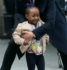 PHOTOS: MARISKA HARGITAY AND DAUGHTER ON SET