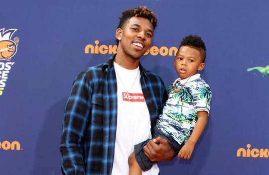 NICK YOUNG AND SON ATTEND NICKELODEON KIDS\' CHOICE SPORTS AWARDS