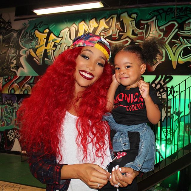 Code Red Monica Brown Brings Daughter On Set Of New Video