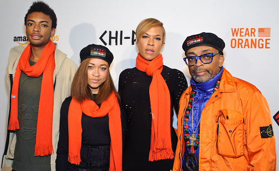 Spike Lee And Family Attend Chi Raq Premiere