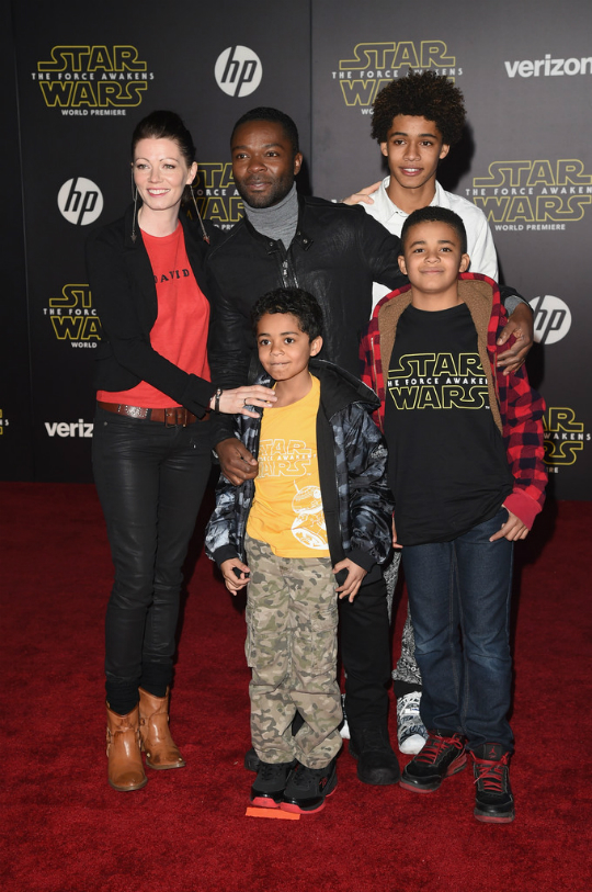 DAVID OYELOWO AND FAMILY ATTEND 'STAR WARS: THE FORCE ...