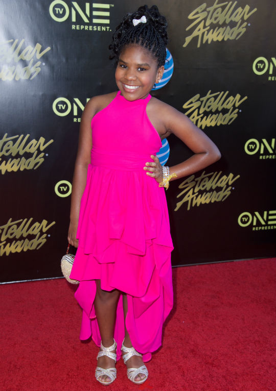 TRINITEE STOKES WEARS HER OWN ORIGINAL DESIGN TO THE
