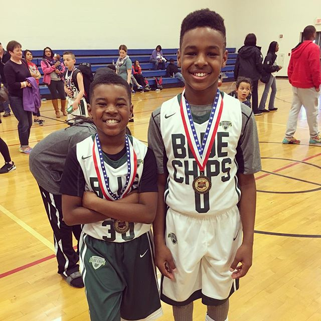3e339da4c42 LEBRON JAMES CHEERS ON SONS AS THEY WIN CHAMPIONSHIP