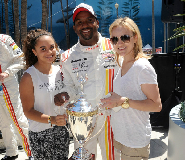 ALFONSO RIBEIRO CELEBRATES GRAND PRIX WIN WITH FAMILY