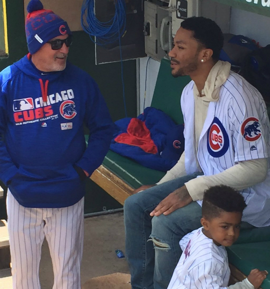 DERRICK ROSE'S SON THROWS FIRST PITCH AT SUNDAY'S BASEBALL ...