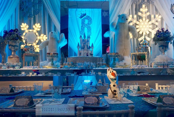 royalty brown enjoys 39 frozen 39 themed birthday party hosted. Black Bedroom Furniture Sets. Home Design Ideas