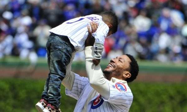 DERRICK ROSE'S SON THROWS FIRST PITCH AT SUNDAY'S BASEBALL GAME