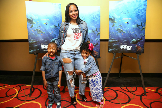 MONYETTA SHAW AND KIDS ATTEND 'FINDING DORY' SCREENING