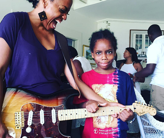 RHONDA ROSS AND SON ATTEND THE NORTH ATLANTIC BLUES FESTIVAL