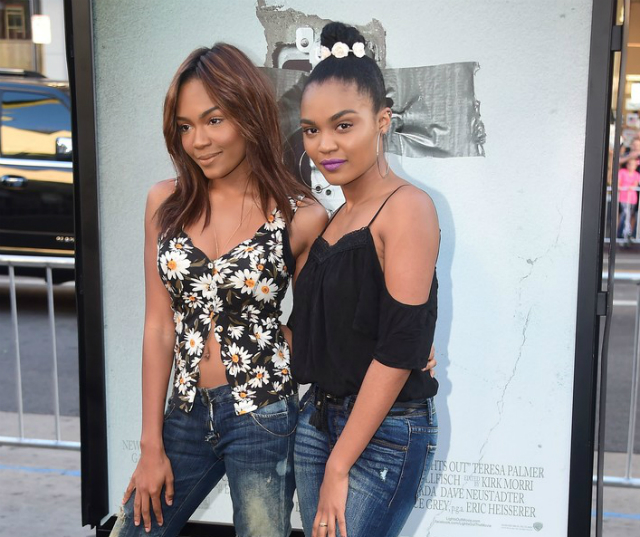 China Anne Mcclain And Sister Lauryn Are Premiere Pals