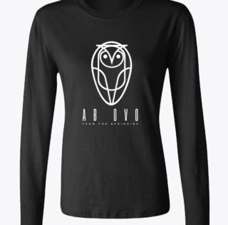 AB OVO-Womens long tee-WHT
