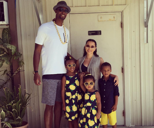 chris and adrienne bosh show pictures of growing kids