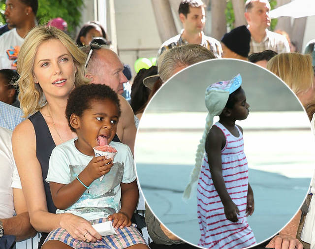CHARLIZE THERON LABELED AS A BAD PARENT FOR LETTING HER SON WEAR A DRESS AND WIG IN PUBLIC