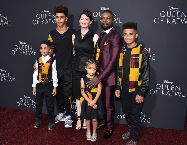 DAVID OYELOWO AND FAMILY ATTEND 'QUEEN OF KATWE' PREMIERE