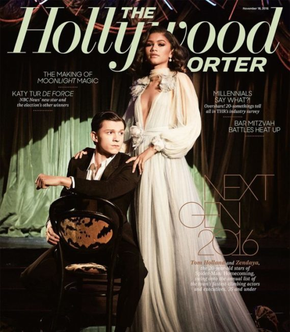 ZENDAYA AND TOM HOLLAND TALK SPIDER MAN IN NEXT GEN ISSUE OF THE HOLLYWOOD REPORTER