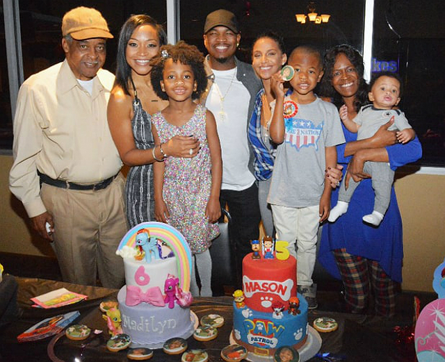 NE-YO AND MONYETTA SHAW CELEBRATE KIDS' BIRTHDAYS