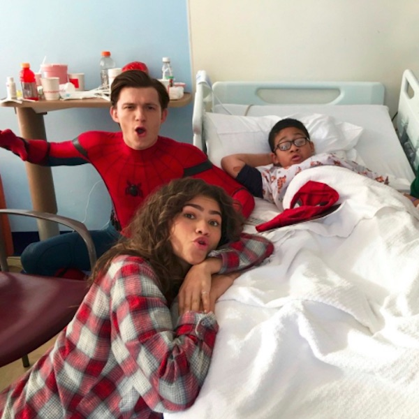 Spider Man In Hospital Bed