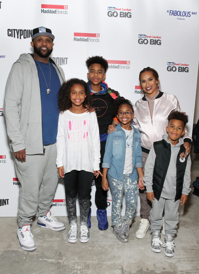The night wouldn't have been complete without the Sabathia kids. CC and Amber struck a few poses while taking pictures with their kids on the red carpet.