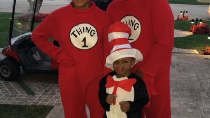 Tamar Braxton and the family honor Dr. Seuss. Logan is so precious!