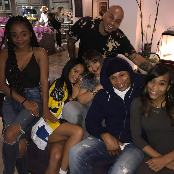 LL Cool J and the family smiled for the camera.