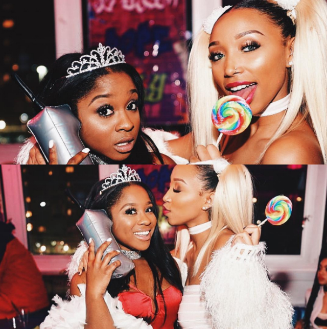 Reginae and Zonnique hanging out.