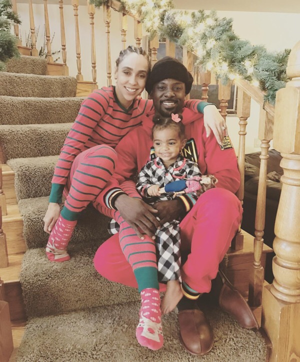 Lance Gross and family put on their finest pajamas for some holiday fun.