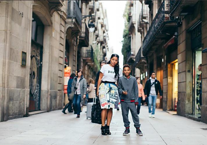 Mashonda and Kasseem take on the Galeria Montcada.