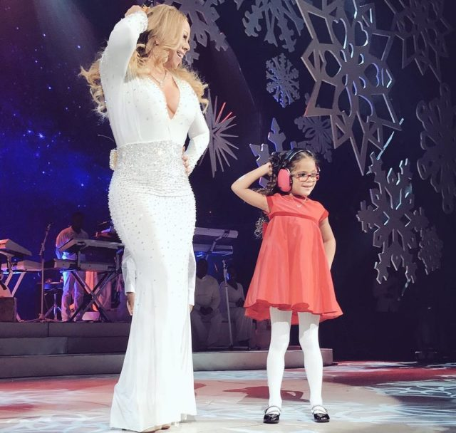 "Mariah Carey performs during the opening show of ""Mariah Carey: All I Want For Christmas Is You"" on Dec. 5."