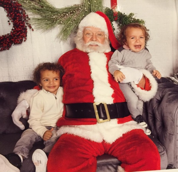 One sibling loves Santa; the other, not so much.