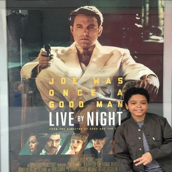 ACTOR GABRIEL L. SILVA PORTRAYS BEN AFFLECK'S SON IN MOB THRILLER 'LIVE BY NIGHT'