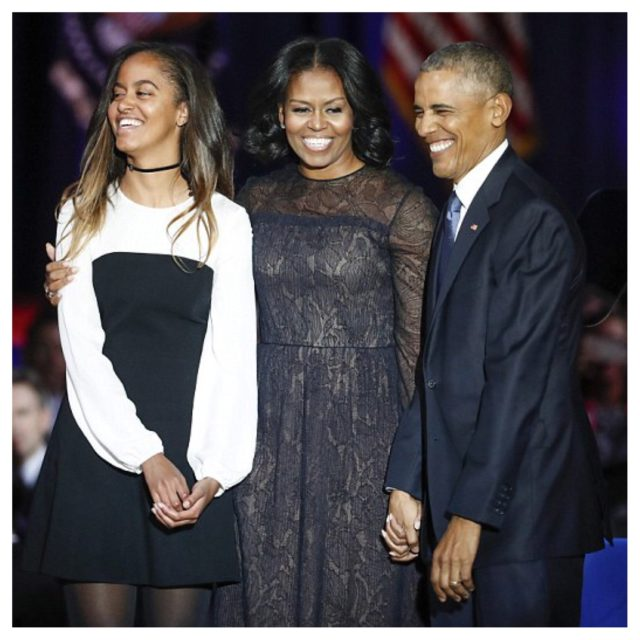 PRESIDENT OBAMA THANKS WIFE AND DAUGHTERS IN FAREWELL SPEECH