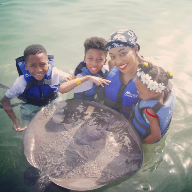 """Conquering the fear of the stingray. """"The Man told Romelo go one at a time, he said Nah Bruh we together."""""""